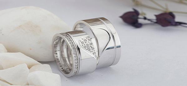 Lovering Çift Gümüş Alyans