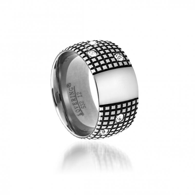 LVR532B Woman Steel Ring