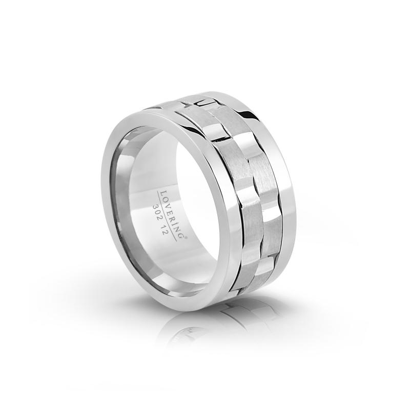 LVR302B Bayan Çelik Yüzük