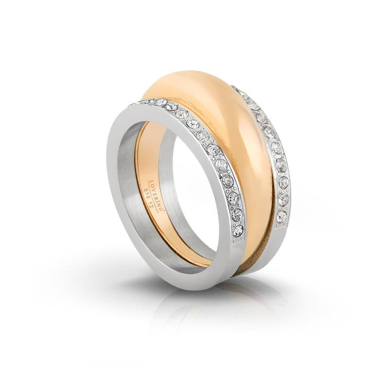 LVR510E Gold Bayan Çelik Yüzük