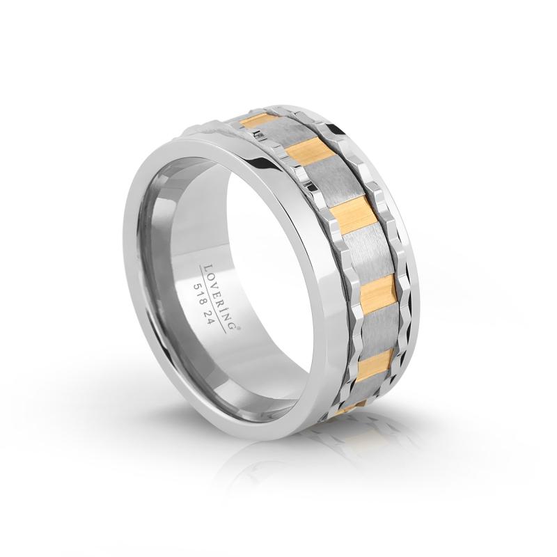 LVR518E Erkek Çelik Yüzük