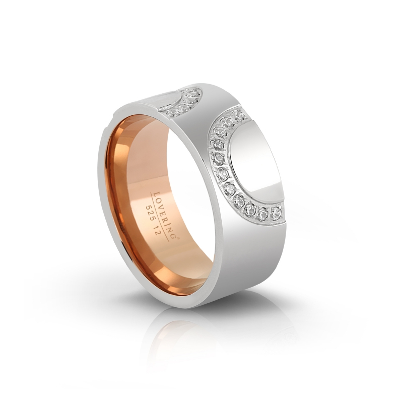 LVR525B Woman Steel Ring